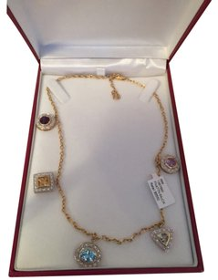 FPJ FPJ 14K Gold Necklace with Precious Stones and Diamonds