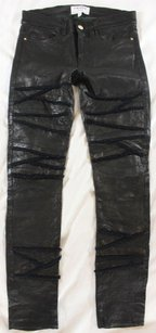 Frame Denim 27 Black Crinkled Is Pants
