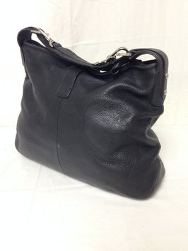 Large Black Leather Shoulder Bag 94