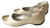 Franco Sarto Patent Leather White Sandals