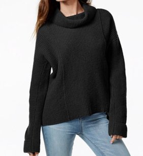 Free People 100% Wool Batwing Cowl Neck Sweater