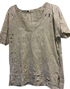 Free People T Shirt Beige Tan