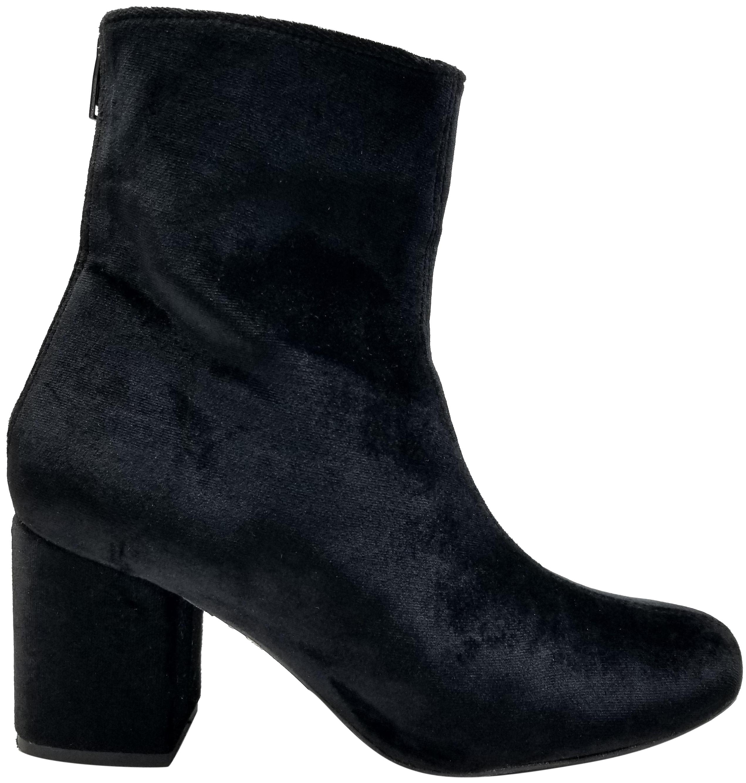 9d82044feee Free People Black Black Black Velvet Cecile Ankle Boots/Booties Size ...