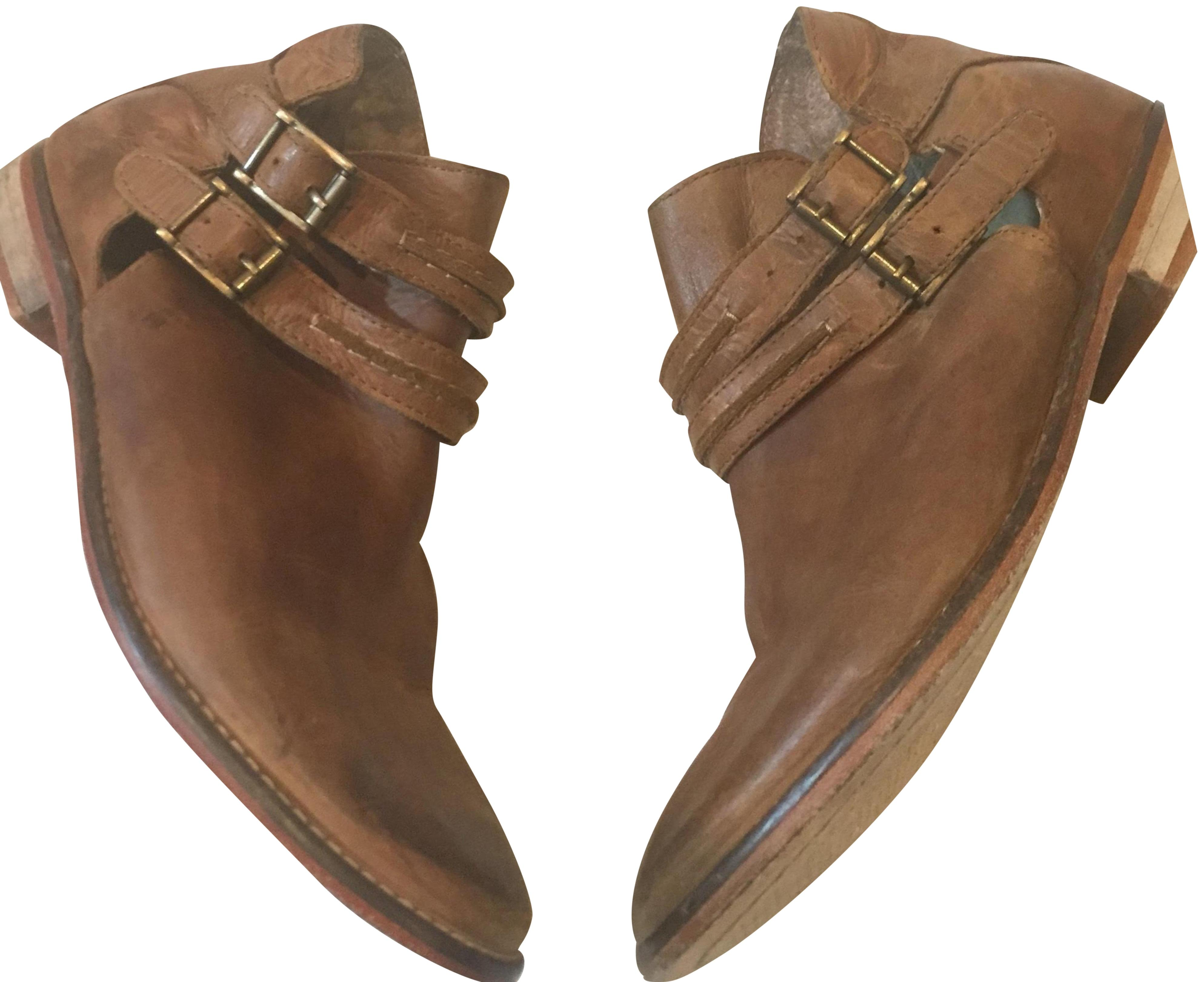 9daa25f585eb Free Free Free People Brown Braeburn Ankle Boots Booties Size US 7 Regular  (M