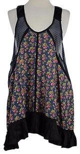 Free People People Womens Pink Floral Xss Sleeveless Rayon Blend Top Multi-Color