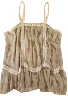 Free People Camisole Sheer Ss Top