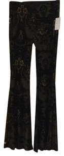 Free People Flare Pants Black Combo, black, brown, gold hues