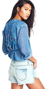 Free People Free People Pax Harness Vest Blue