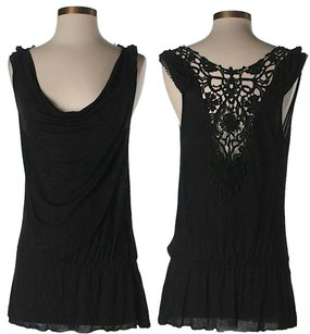 Free People short dress Black Lace Back Viscose on Tradesy