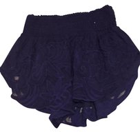 Free People Lace Beach Mini/Short Shorts Navy blue
