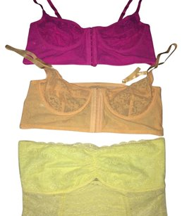 Free People Lot Of 3 Free People Lace Bras