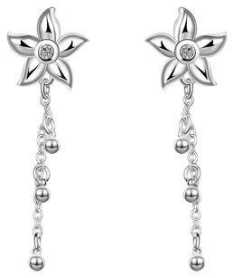 Free People Sterling Silver Plated Cubic Zirconia Earrings