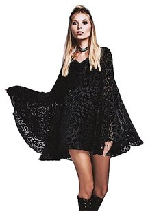Free People Stevie Nicks Boho Mini Party Angel Bell Sleeve Mini Dress