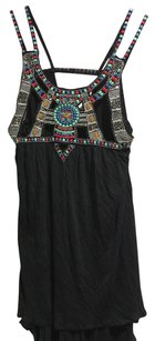 Free People Top Black Red Blue Green