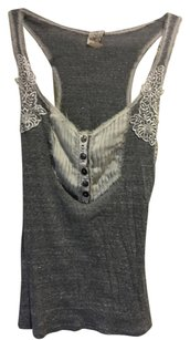 Free People Top Grey White