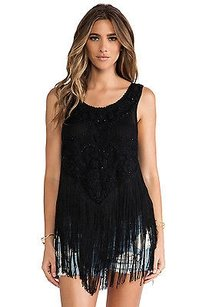 Free People On The Fringe Beaded Top Black