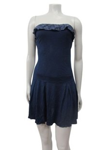 Free People short dress Blue Navy Strapless on Tradesy