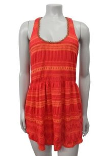 Free People People Striped Pattern Racer Back P Tunic