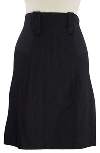 French Connection Womens Striped Knee Skirt Black