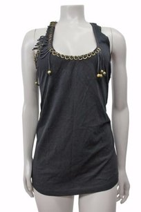 French Connection Gold Ring Embellished Macys Top Black