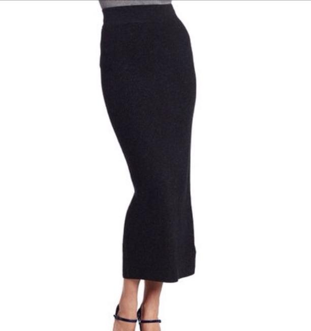 French Connection Grey Maxi Skirt Charcoal