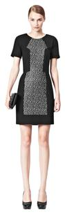 French Connection short dress Black, White Classic Lace Crochet Sheath on Tradesy
