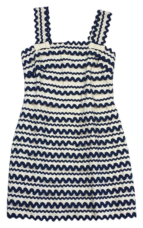 French connection blue tiered dress