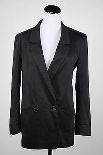 French Connection French Connection Womens Black Blazer Basic Jacket Career Lined