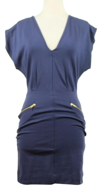 durable modeling French Connection Womens Navy Dress Above Knee Casual