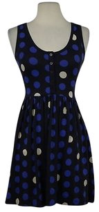 French Connection Womens Polka Dot 0 Cotton Above Knee Casual Dress