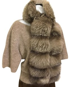 French Furrier Frosted Silver Fox Wrap Scarf