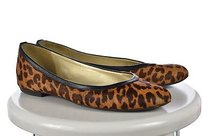 French Sole Fsny Womens Animal Print Tan Flats
