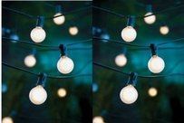 Frosted Globe Lights Cafe String Lights 25 Ct 21 F