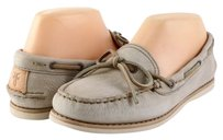 Frye Quincy Tie Distressed Leather Designer Boat Cement Flats