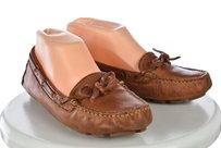 Frye Campus Womens Distressed Driver Moc Leather Brown Flats
