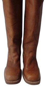 Frye Pull On Knee High Medium Brown Boots