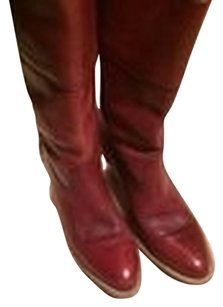 Frye Leather Tan Reddish Brown browgn Boots