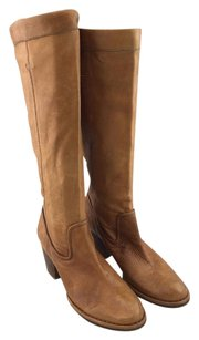 Frye Rory Scrunch Leather Tan Boots