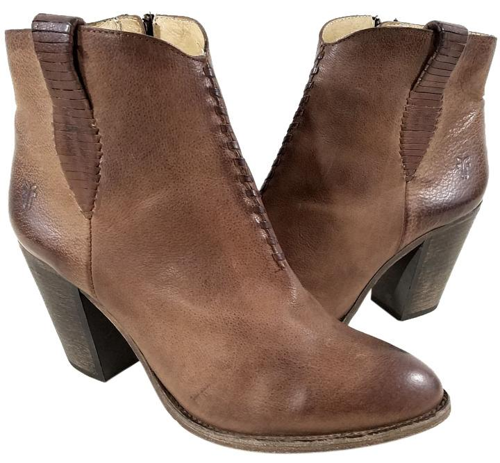 Frye Style #71240 Ankle Whipstitch Western Style Buffalo Leather Taupe Boots  ...