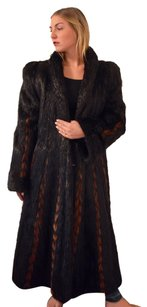Nutria Fur Coat PLus Size Black Fur Coat