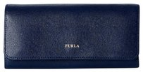 Furla Navy Babylon Flap Wallet