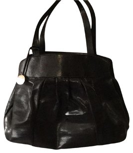 Furla Satchel in Black with Silver Hardware