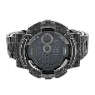 G-Shock Black G-shock Watch Full Iced Out Simulated Diamonds Gd100 Custom Digital Mm