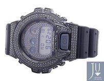 G-Shock Casio Mens G Shock 6900 Black Gold Finish Black Simulated Diamond Watch Ct