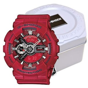 G-Shock G Shock Gmas110f-4a Series Original Red Dial Silicon Strap Digital Watch