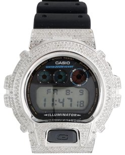 G-Shock G-shock Real White Diamond Watch Casio Custom Casing 6900 Model Ct.