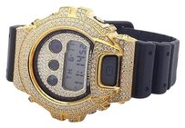 G-Shock Casio Mens G Shock 6900 Yellow Gold Finish White Simulated Diamond Watch Ct