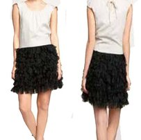 Gap Tiered Tulle Swan Black Ivory Austere 0 Dress