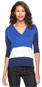 Gap Striped 100% Cotton T Shirt Blue, White, Black