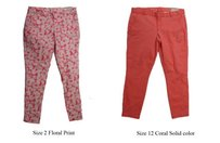 Gap Khakis By Pink Capri/Cropped Pants Coral